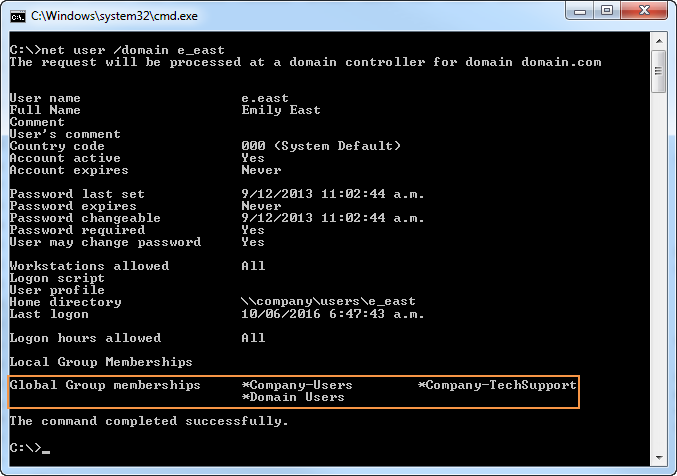 Verify a Users group membership in Active Directory