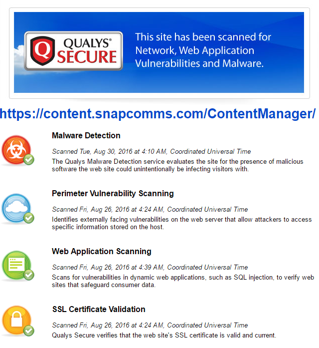 SnapComms Security Standards