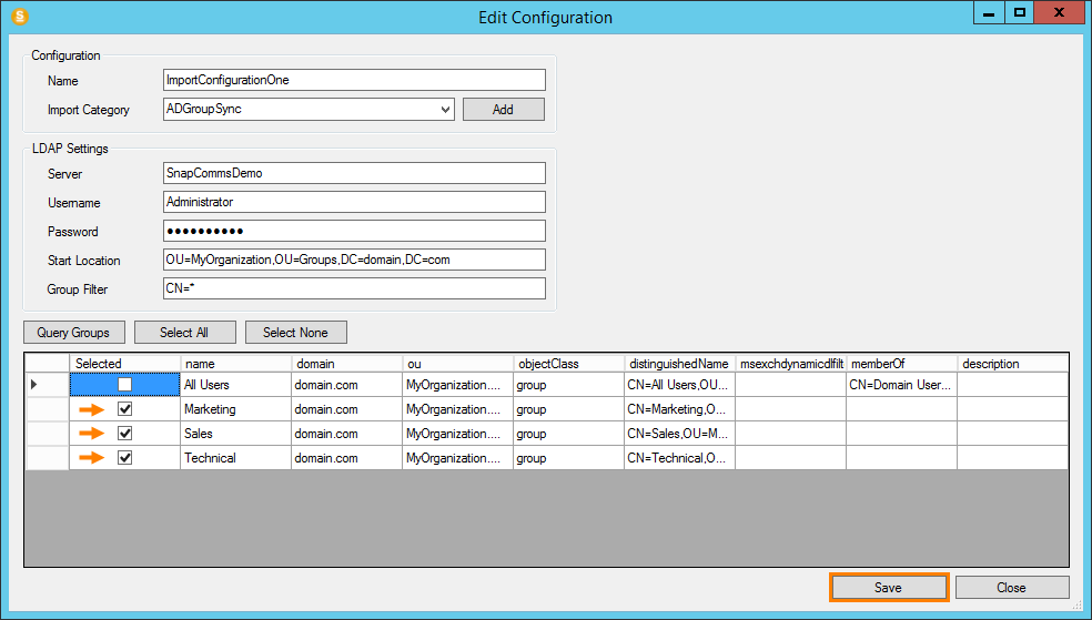 Active Directory Group Synchronization Tool